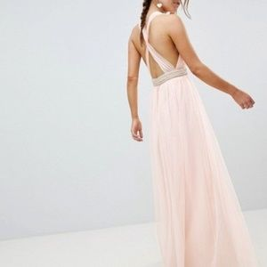 OMG AMAZING asos tulle pearl tulle maxi dress 12